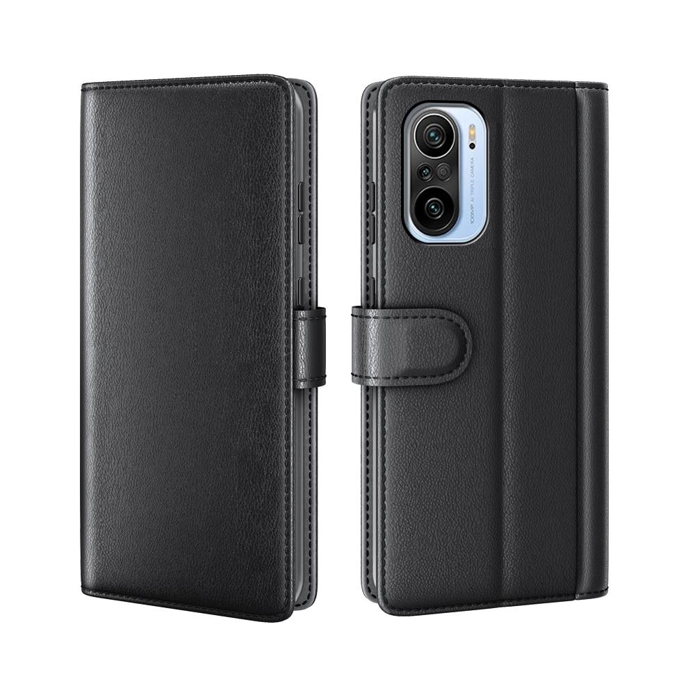Ekte Lærveske Xiaomi Mi 11i/Poco F3 svart