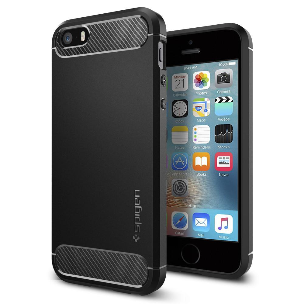 iPhone SE/5S/5 Rugged Armor Case svart