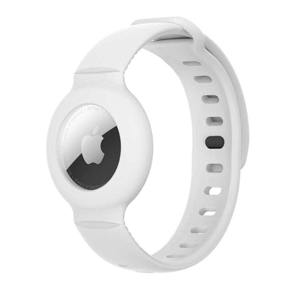 Silikonarmbånd Apple AirTag hvit
