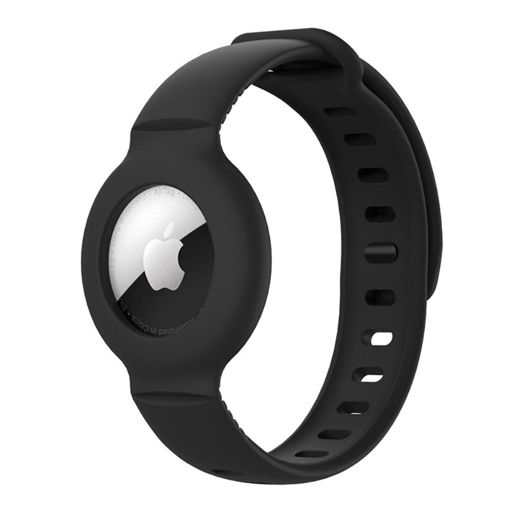 Silikonarmbånd Apple AirTag svart