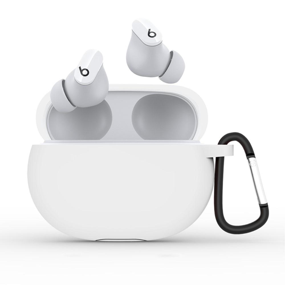 Silikondeksel med karabinkrok Beats Studio Buds hvit
