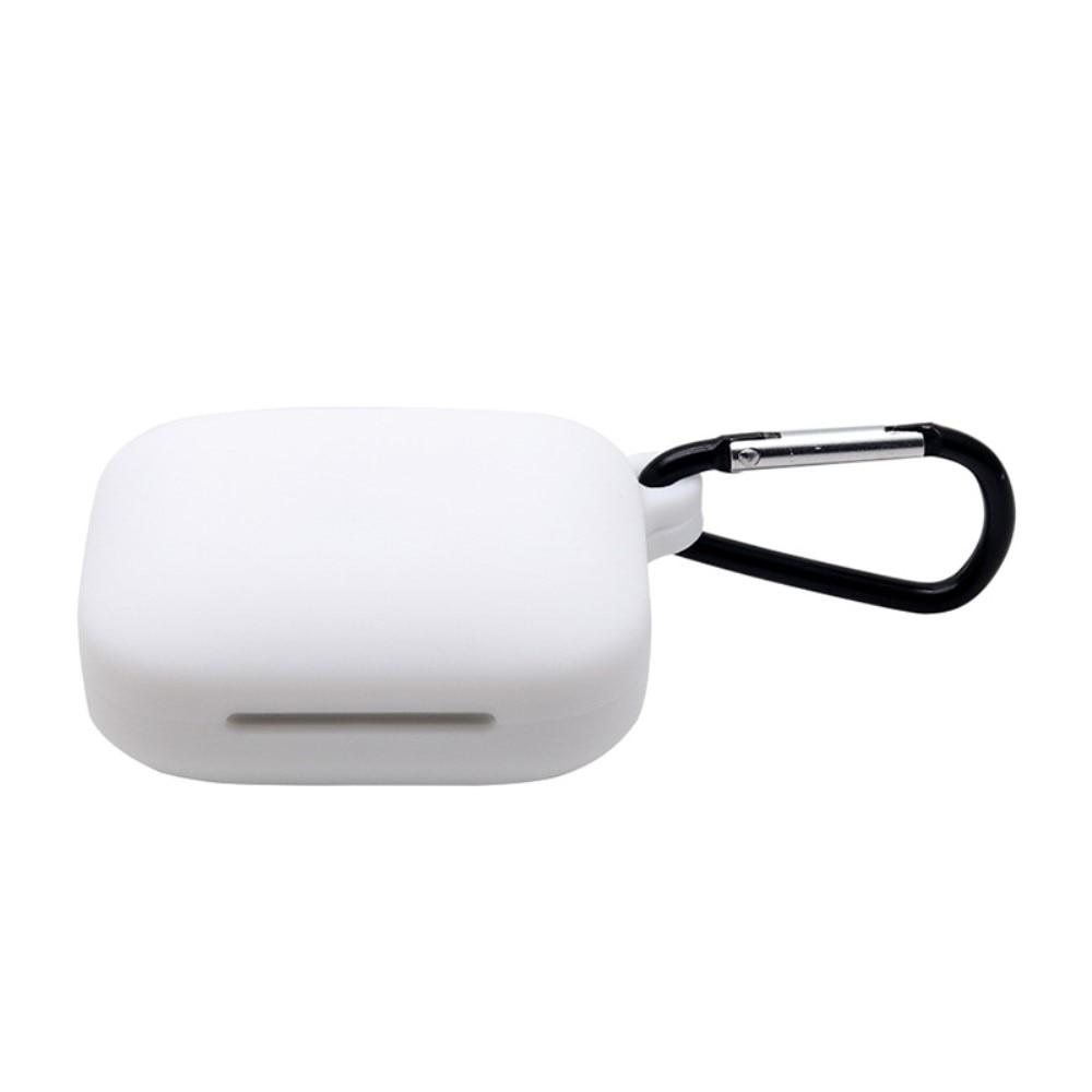 Silikondeksel med karabinkrok OnePlus Buds Pro hvit