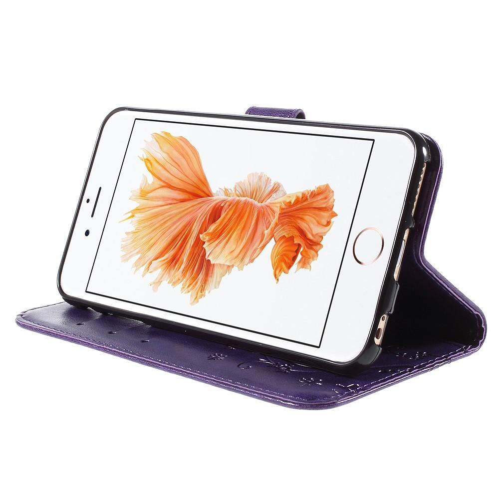 Lærveske Sommerfugler Apple iPhone 6/6S lilla
