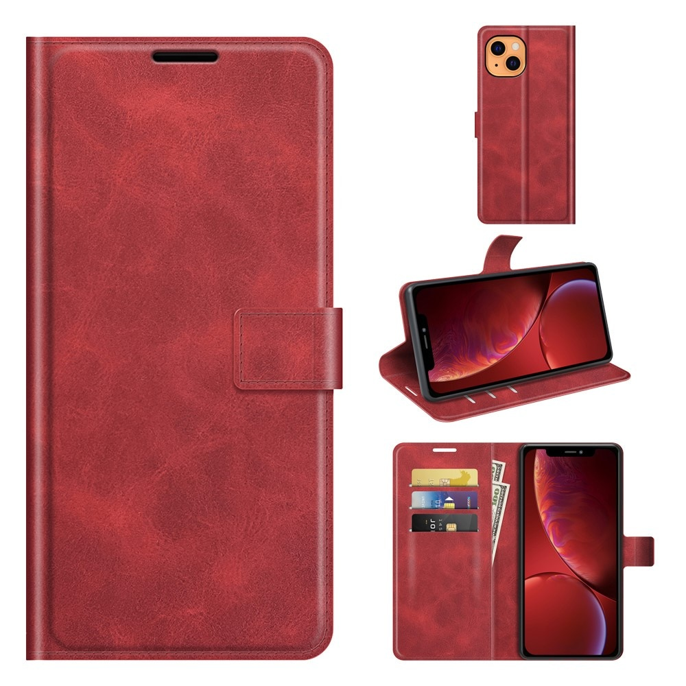 Leather Wallet iPhone 13 Mini Red