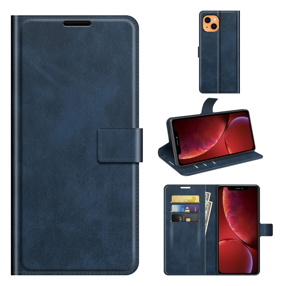 Leather Wallet iPhone 13 Mini Blue