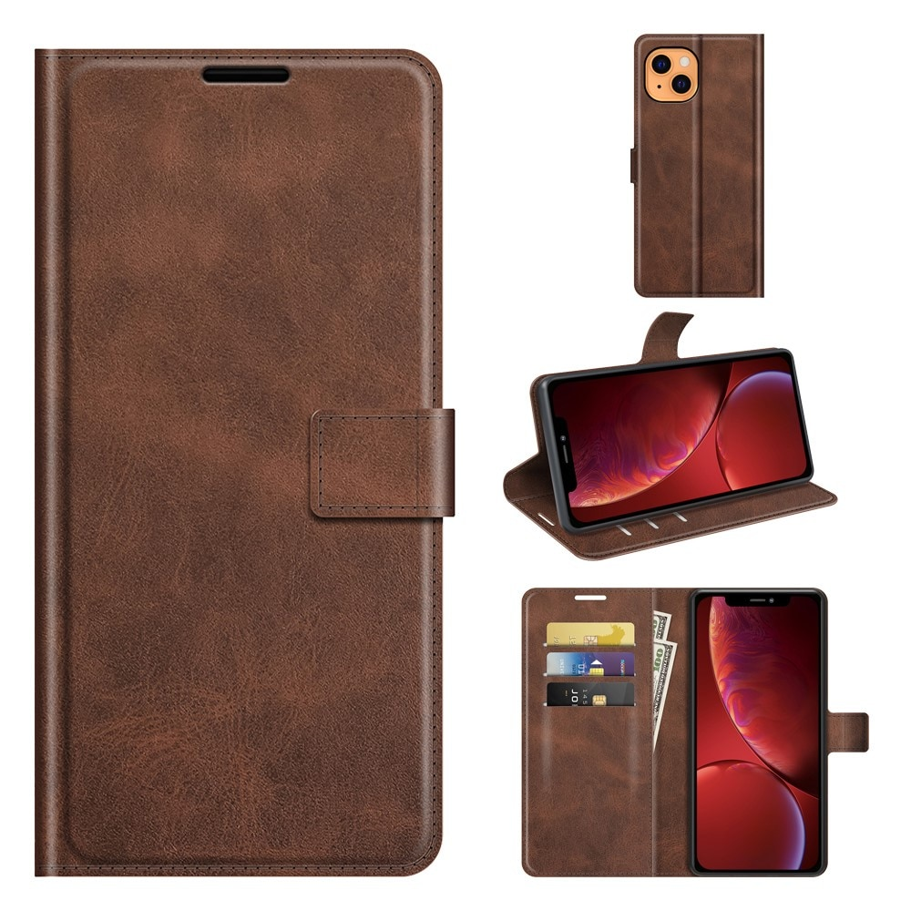 Leather Wallet iPhone 13 Mini Brown