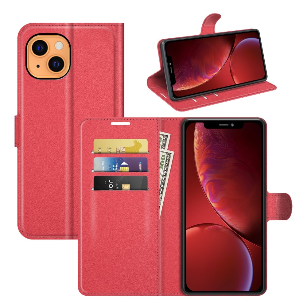 Mobilveske iPhone 13 rød