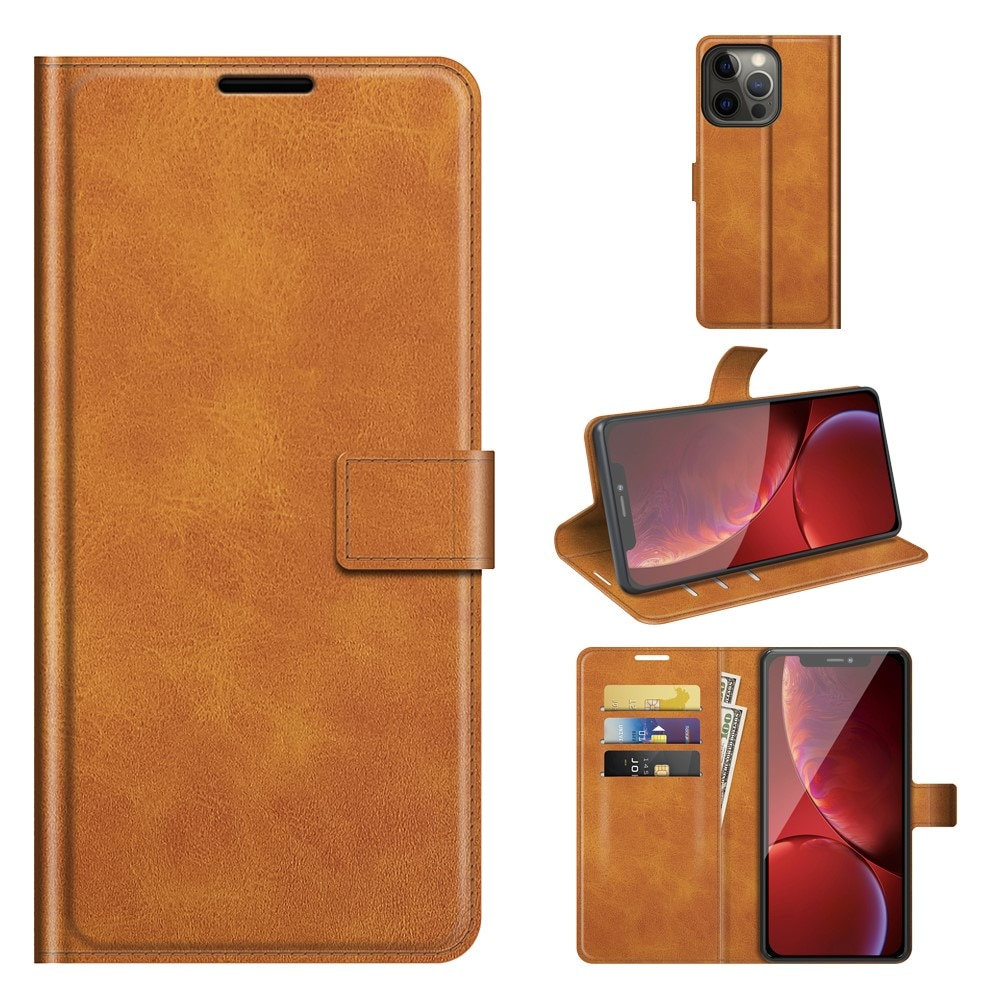Leather Wallet iPhone 13 Pro Max Cognac