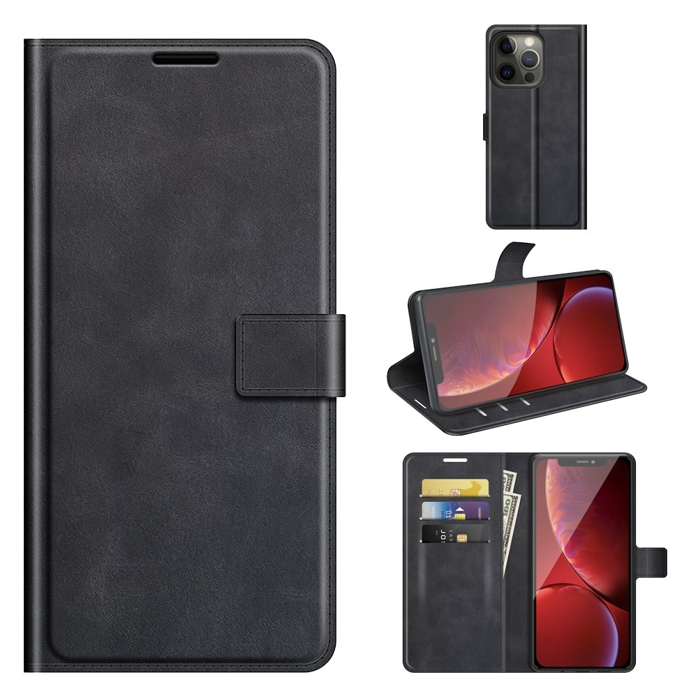 Leather Wallet iPhone 13 Pro Black