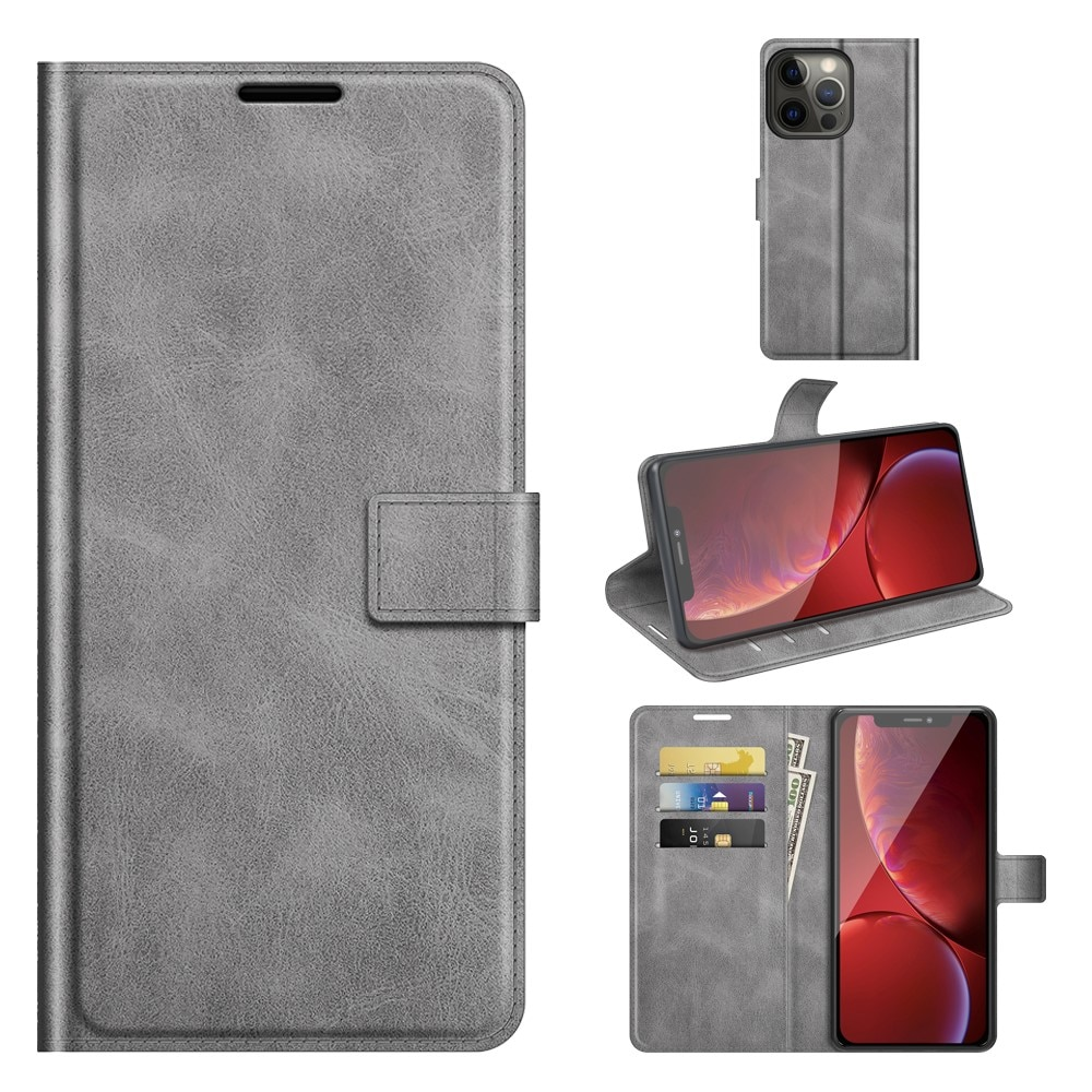 Leather Wallet iPhone 13 Pro Grey