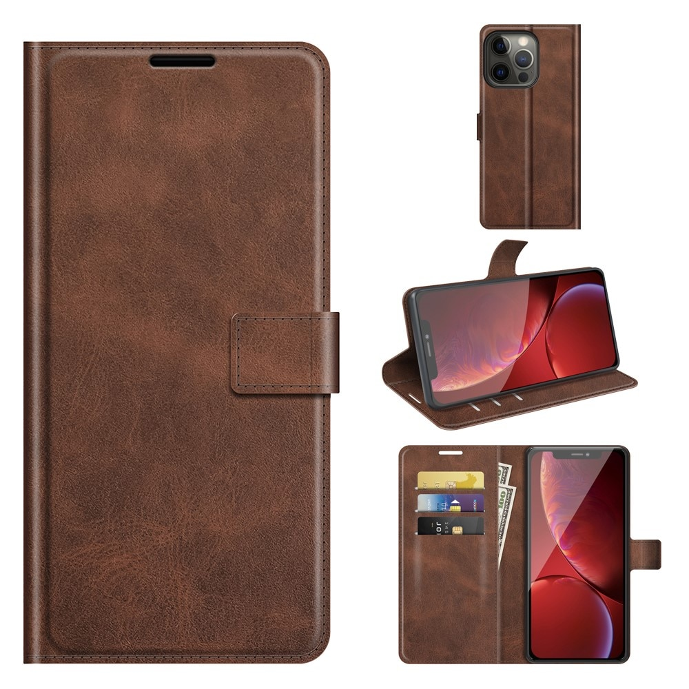 Leather Wallet iPhone 13 Pro Brown