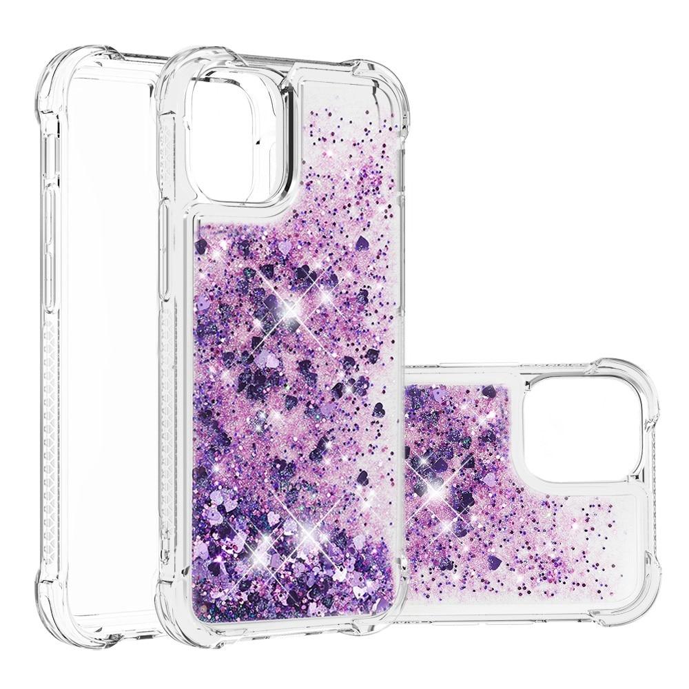 Glitter Powder TPU Case iPhone 13 Mini lilla