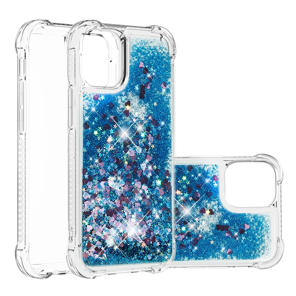 Glitter Powder TPU Case iPhone 13 Mini blå