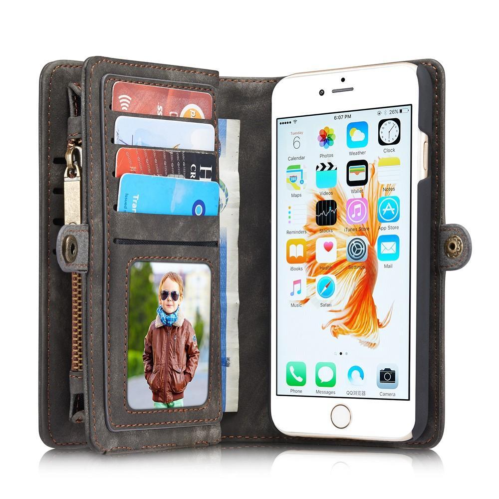 Multi-slot Lommeboksetui iPhone 6 Plus/6S Plus grå