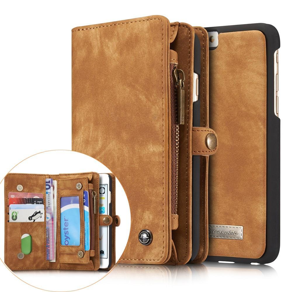 Multi-slot Lommeboksetui iPhone 6 Plus/6S Plus brun