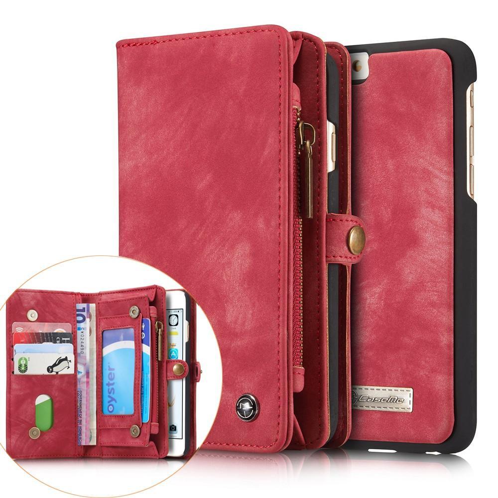 Multi-slot Lommeboksetui iPhone 6/6S rød