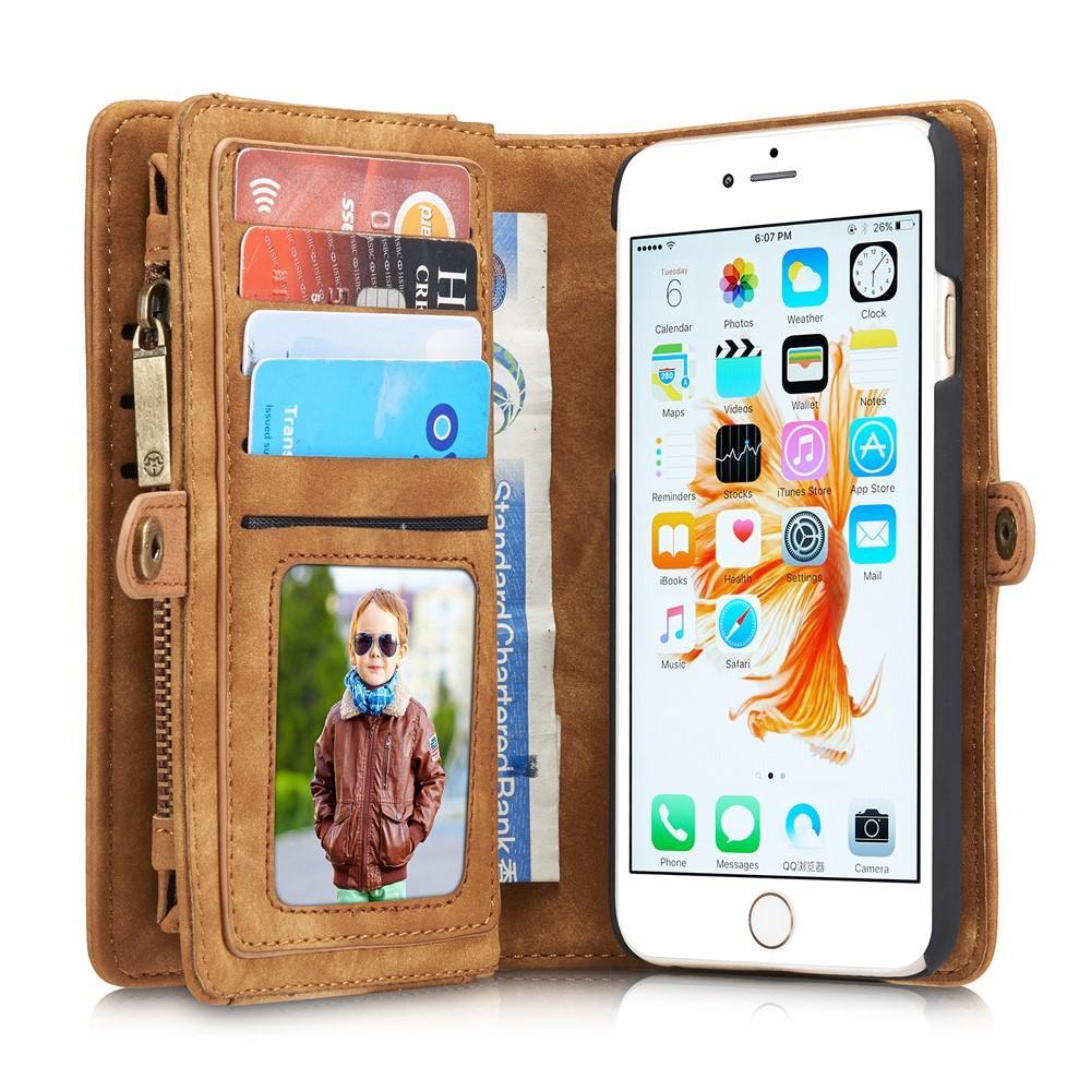 Multi-slot Lommeboksetui iPhone 6/6S brun