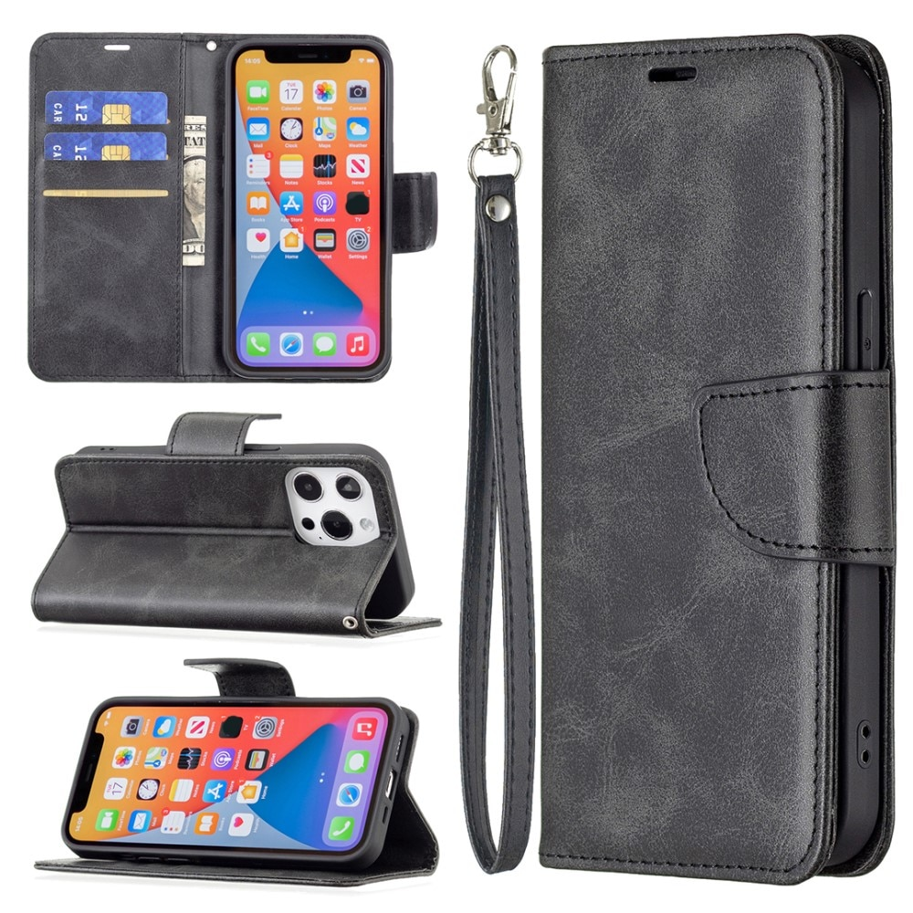 Mobilveske iPhone 13/13 Pro svart