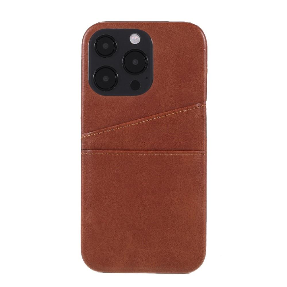 Card Slots Case Apple iPhone 13 Pro brun