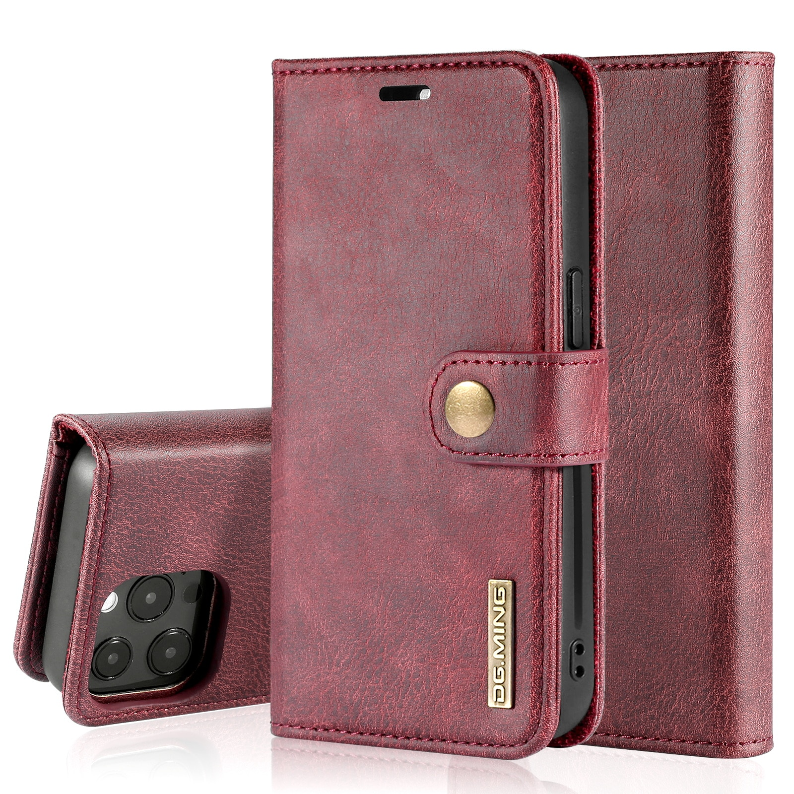 Magnet Wallet iPhone 13 Pro Max Red