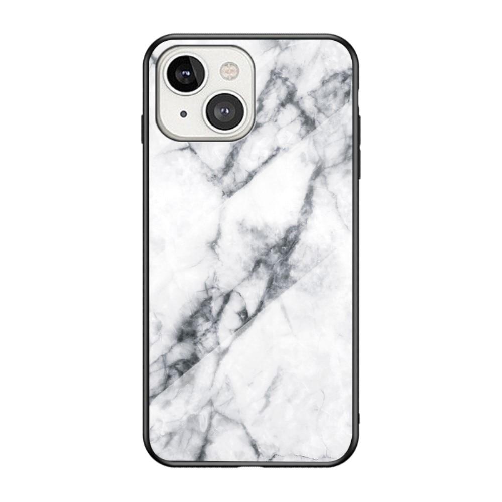 Herdet Glass Deksel Apple iPhone 13 hvit marmor