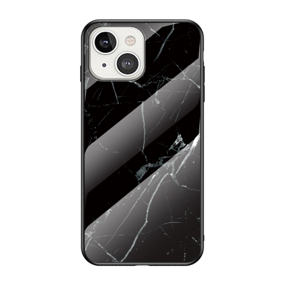 Herdet Glass Deksel Apple iPhone 13 Mini svart marmor