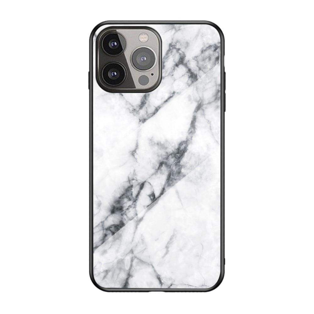 Herdet Glass Deksel Apple iPhone 13 Pro Max hvit marmor