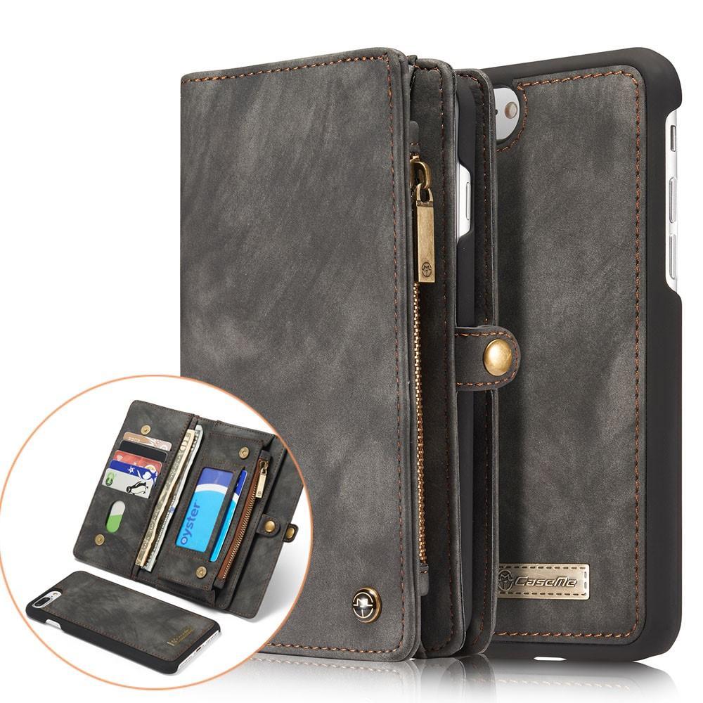 Multi-slot Lommeboksetui iPhone 7 Plus/8 Plus grå