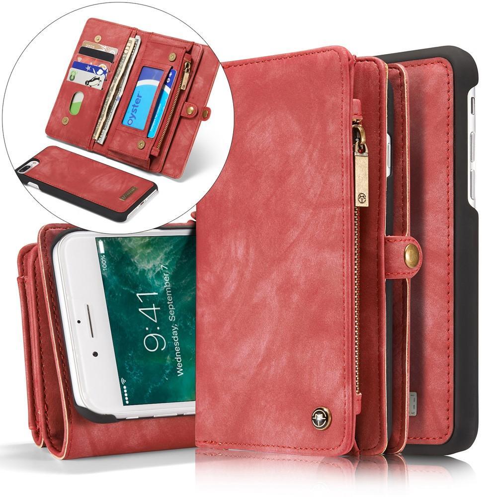 Multi-slot Lommeboksetui iPhone 7 Plus/8 Plus rød