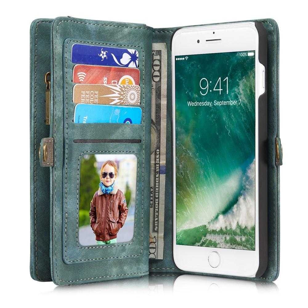 Multi-slot Lommeboksetui iPhone 7 Plus/8 Plus  blå