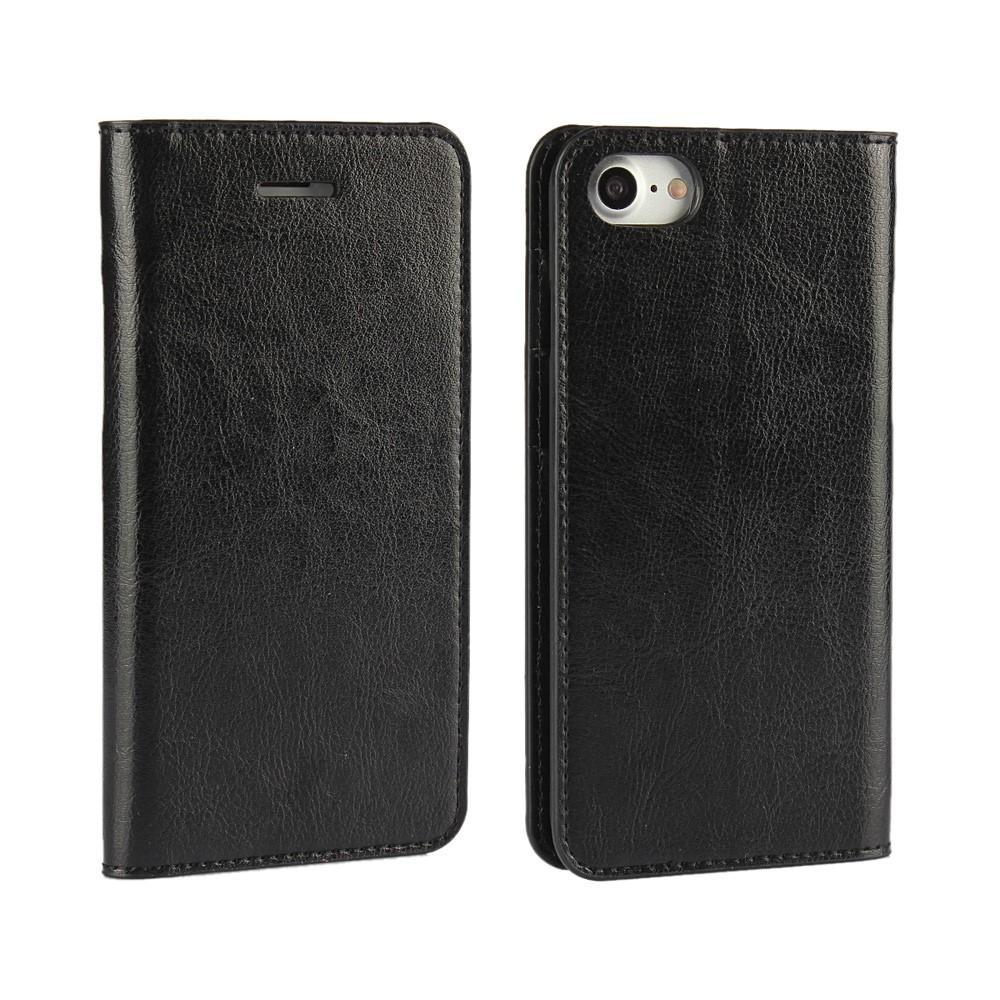 Mobiletui Ekte Lær iPhone 7/8/SE 2020 svart