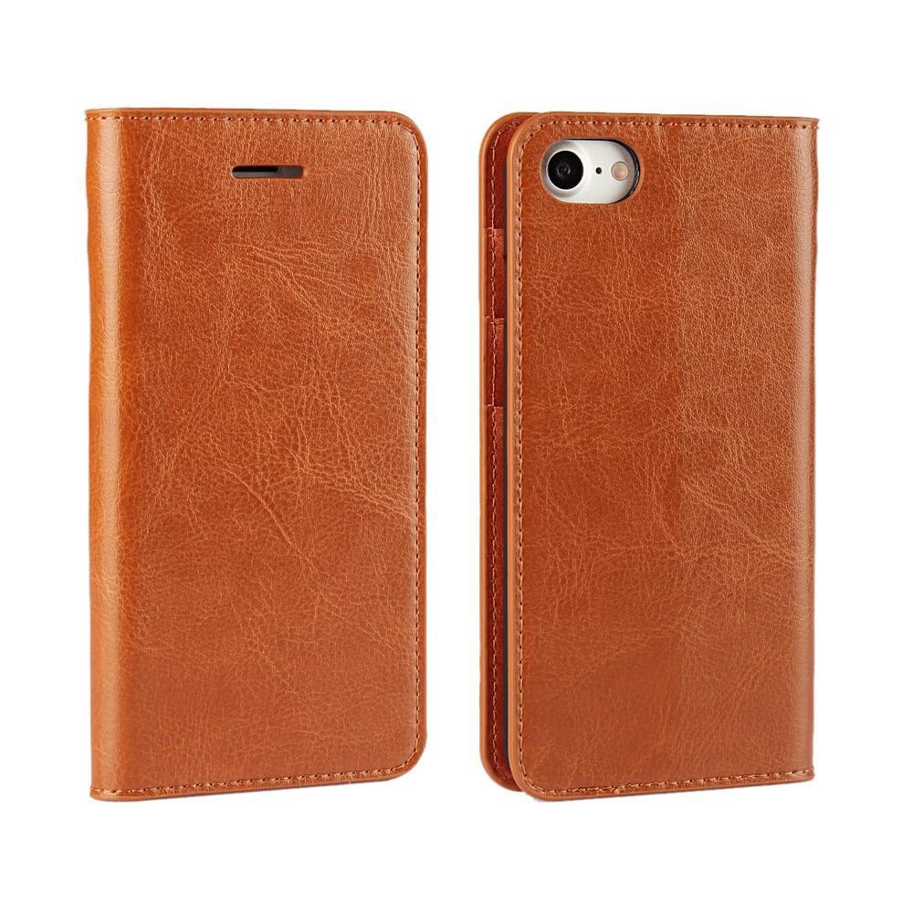 Mobiletui Ekte Lær iPhone 7/8/SE 2020 brun