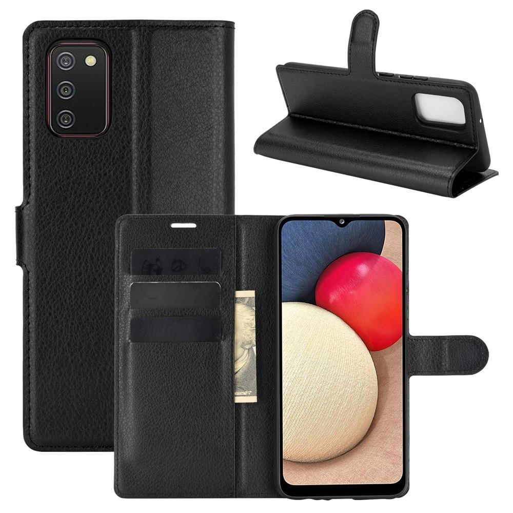 Mobilveske Samsung Galaxy A02s svart