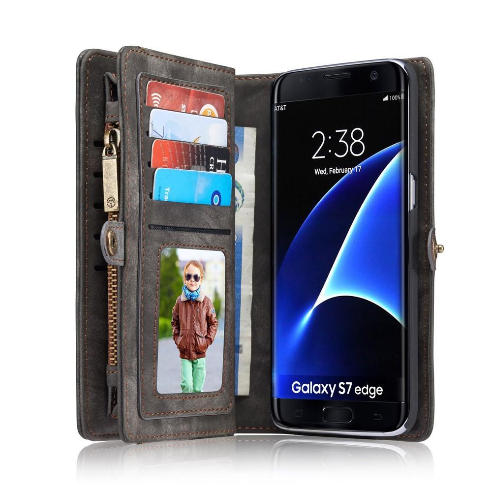 Multi-slot Lommeboksetui Galaxy S7 Edge grå