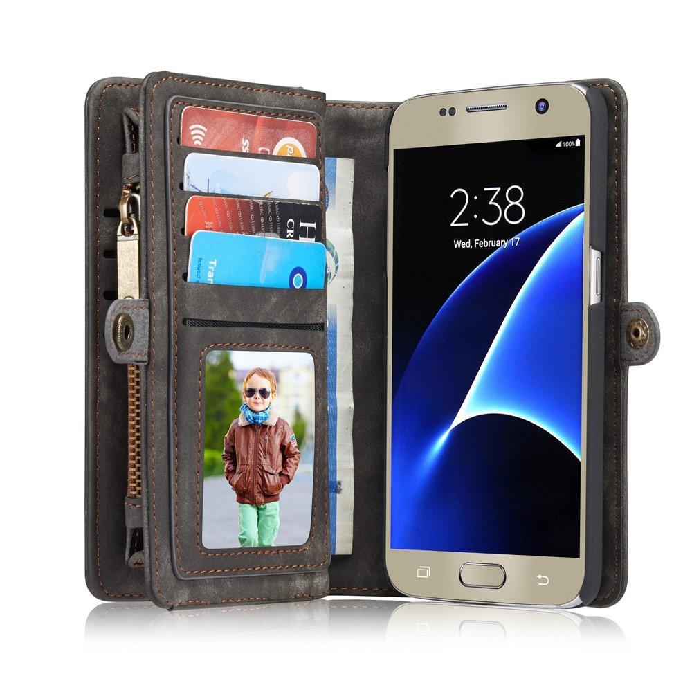 Multi-slot Lommeboksetui Galaxy S7 grå