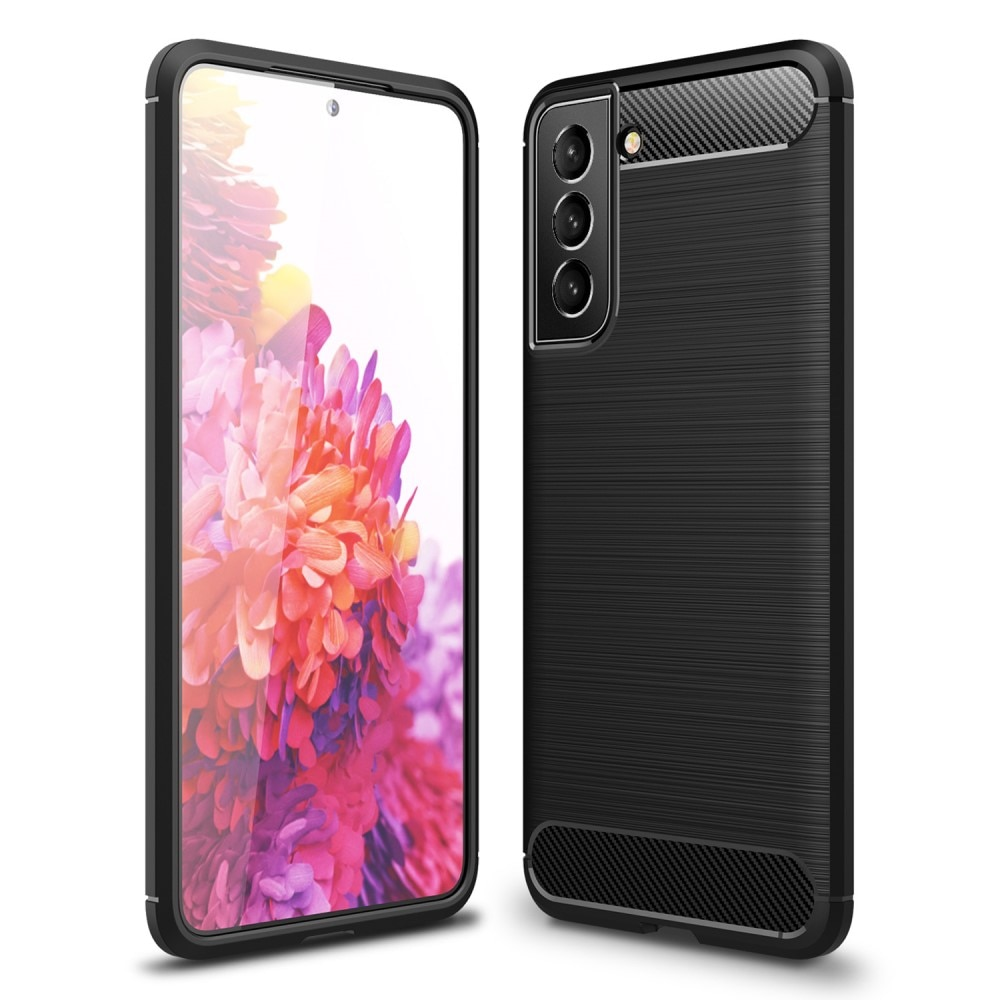 Brushed TPU Deksel Samsung Galaxy S21 FE Black
