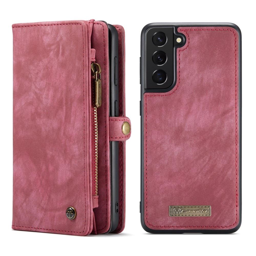 Multi-slot Lommeboksetui Galaxy S21 FE rød