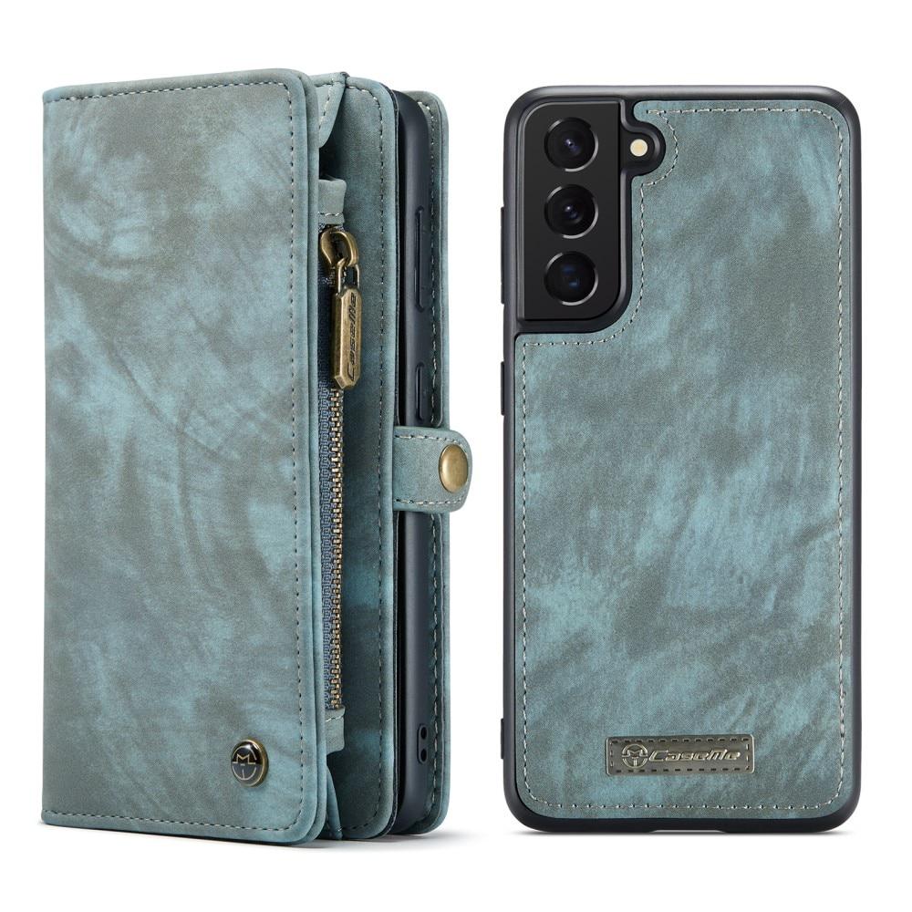 Multi-slot Lommeboksetui Galaxy S21 FE blå