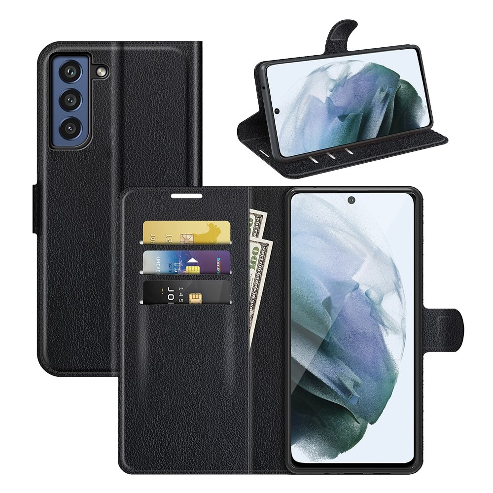 Mobilveske Samsung Galaxy S21 FE  svart