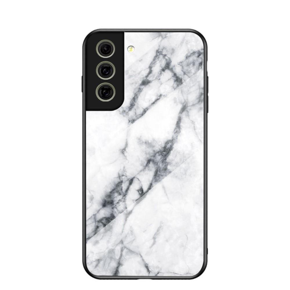 Herdet Glass Deksel Samsung Galaxy S21 FE hvit marmor