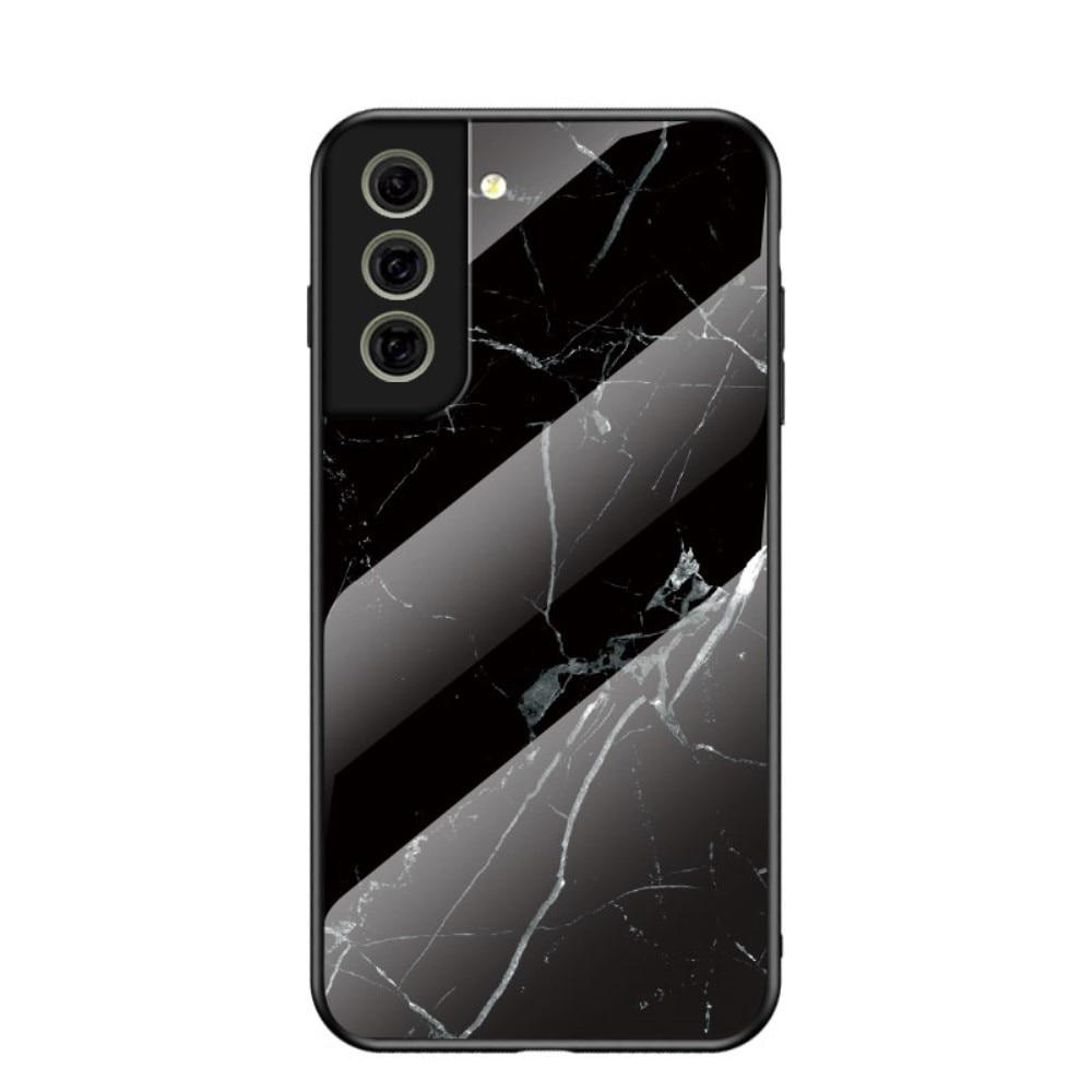 Herdet Glass Deksel Samsung Galaxy S21 FE svart marmor