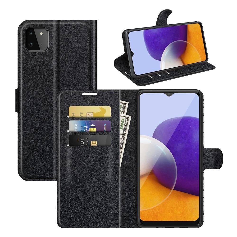 Mobilveske Samsung Galaxy A22 5G svart