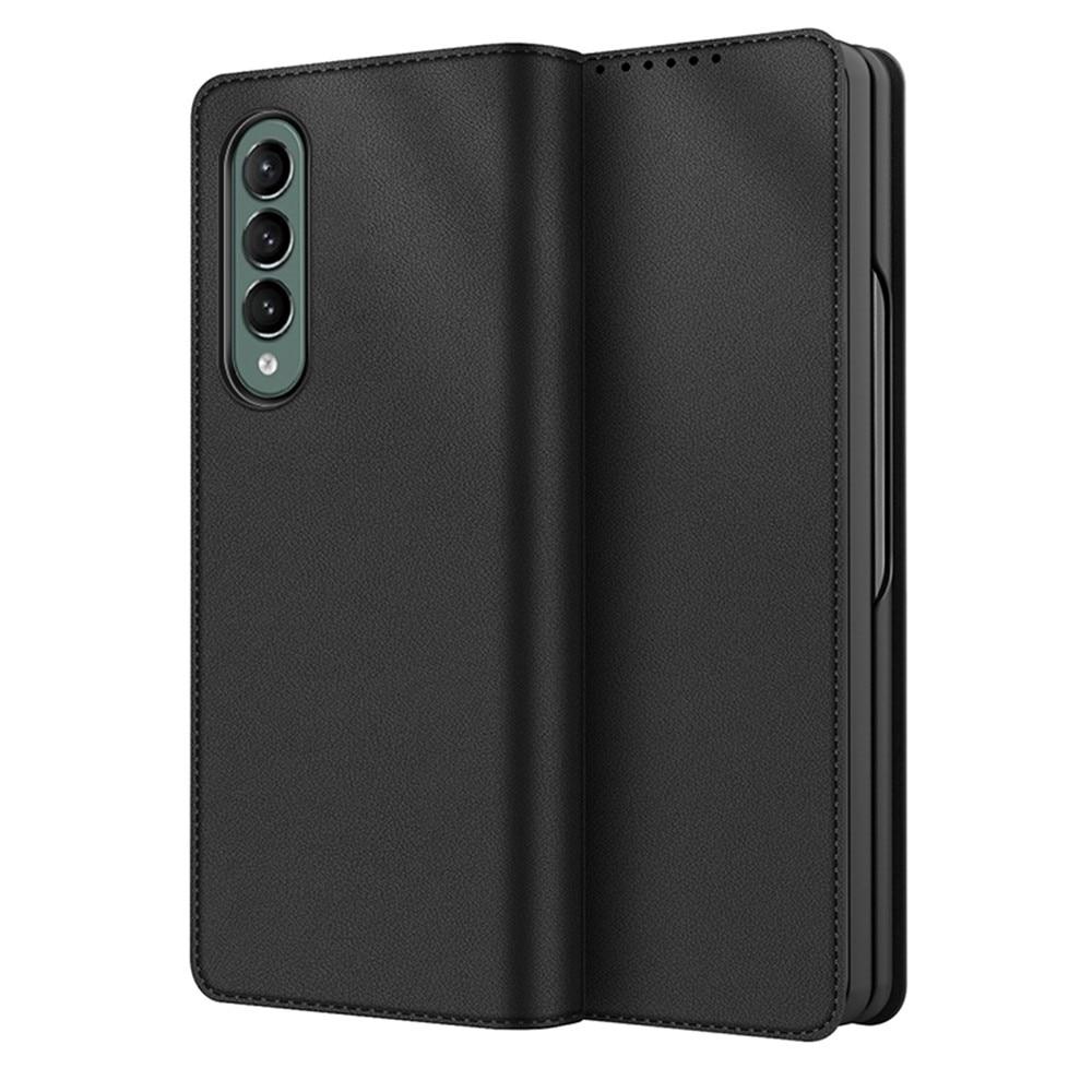 Ekte Lærveske Samsung Galaxy Z Fold 3 svart