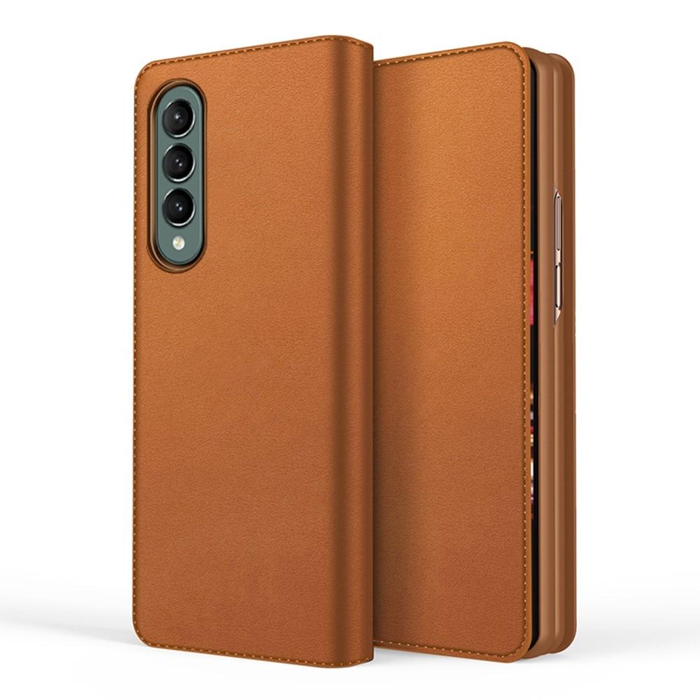 Ekte Lærveske Samsung Galaxy Z Fold 3 brun