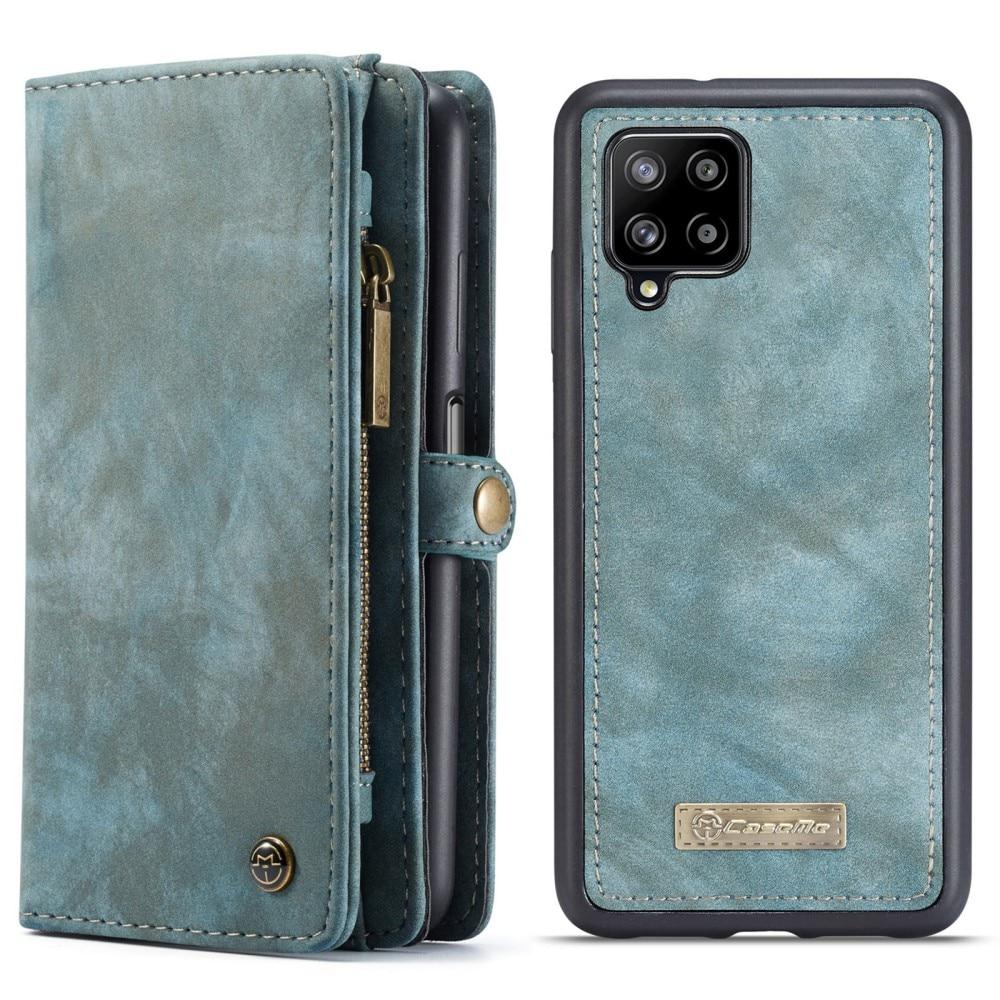 Multi-slot Lommeboksetui Samsung Galaxy A12 blå