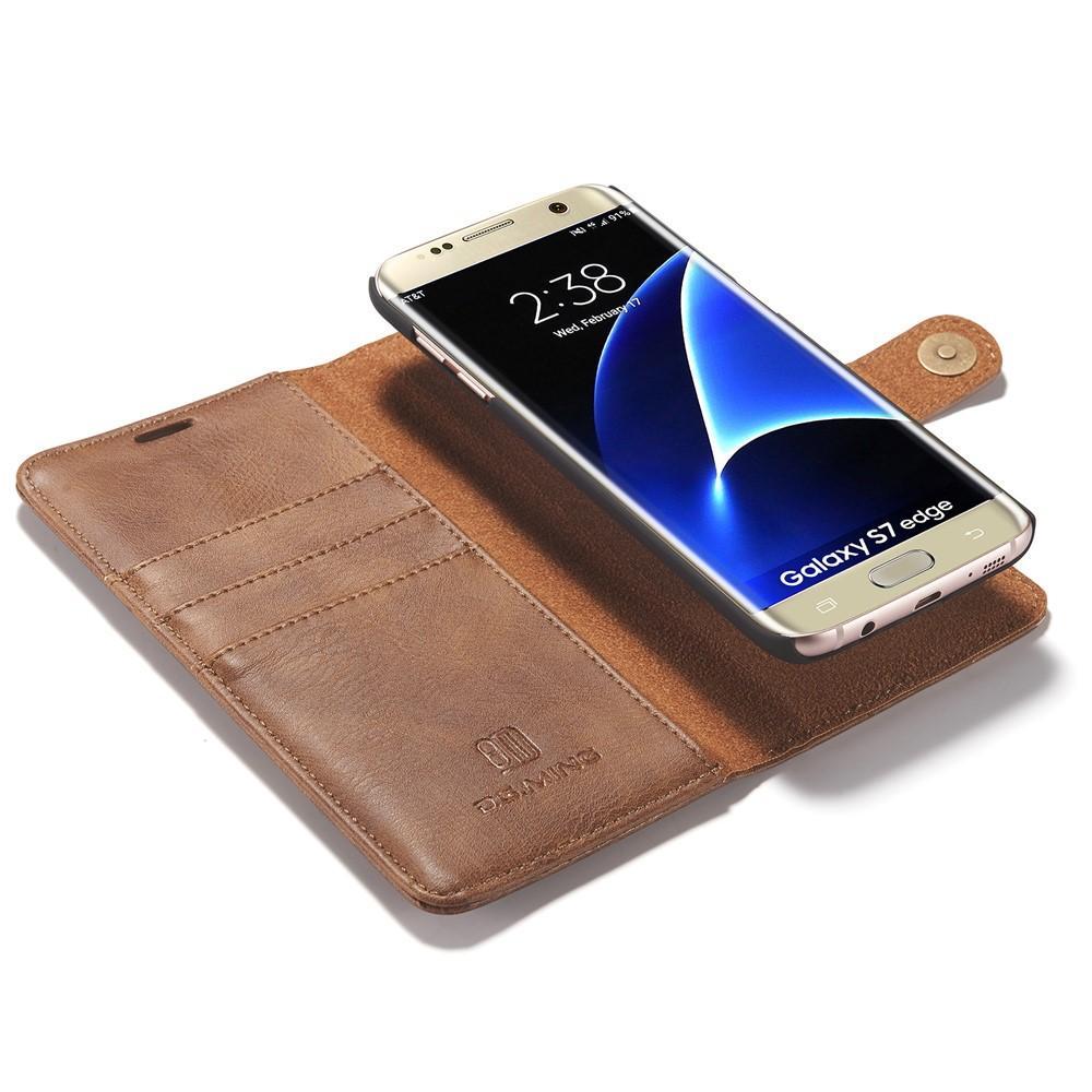 Magnet Wallet Samsung Galaxy S7 Edge Cognac
