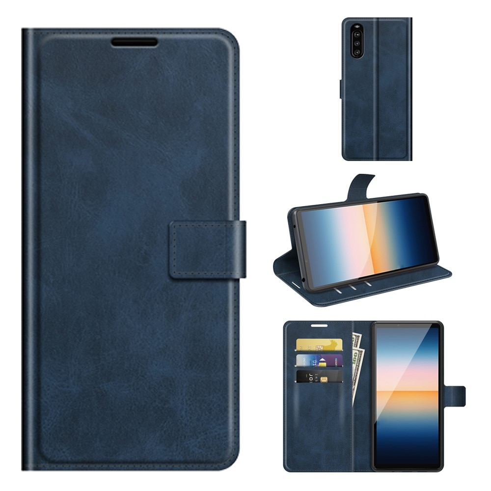 Leather Wallet Sony Xperia 10 III Blue
