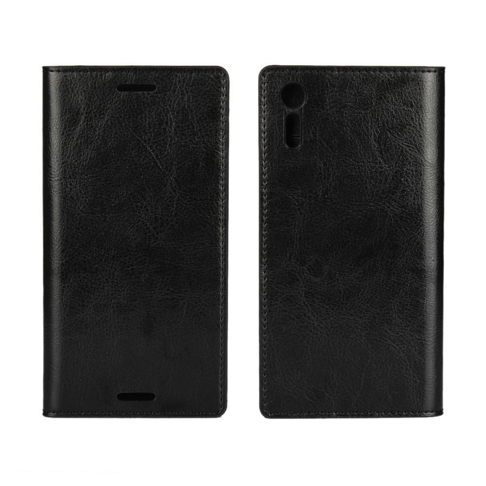 Mobiletui Ekte Lær Sony Xperia XZ svart