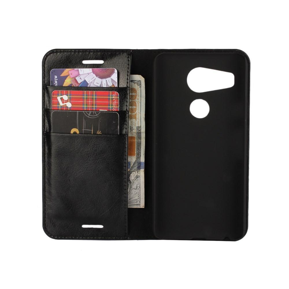 Mobiletui Ekte Lær Nexus 5X svart