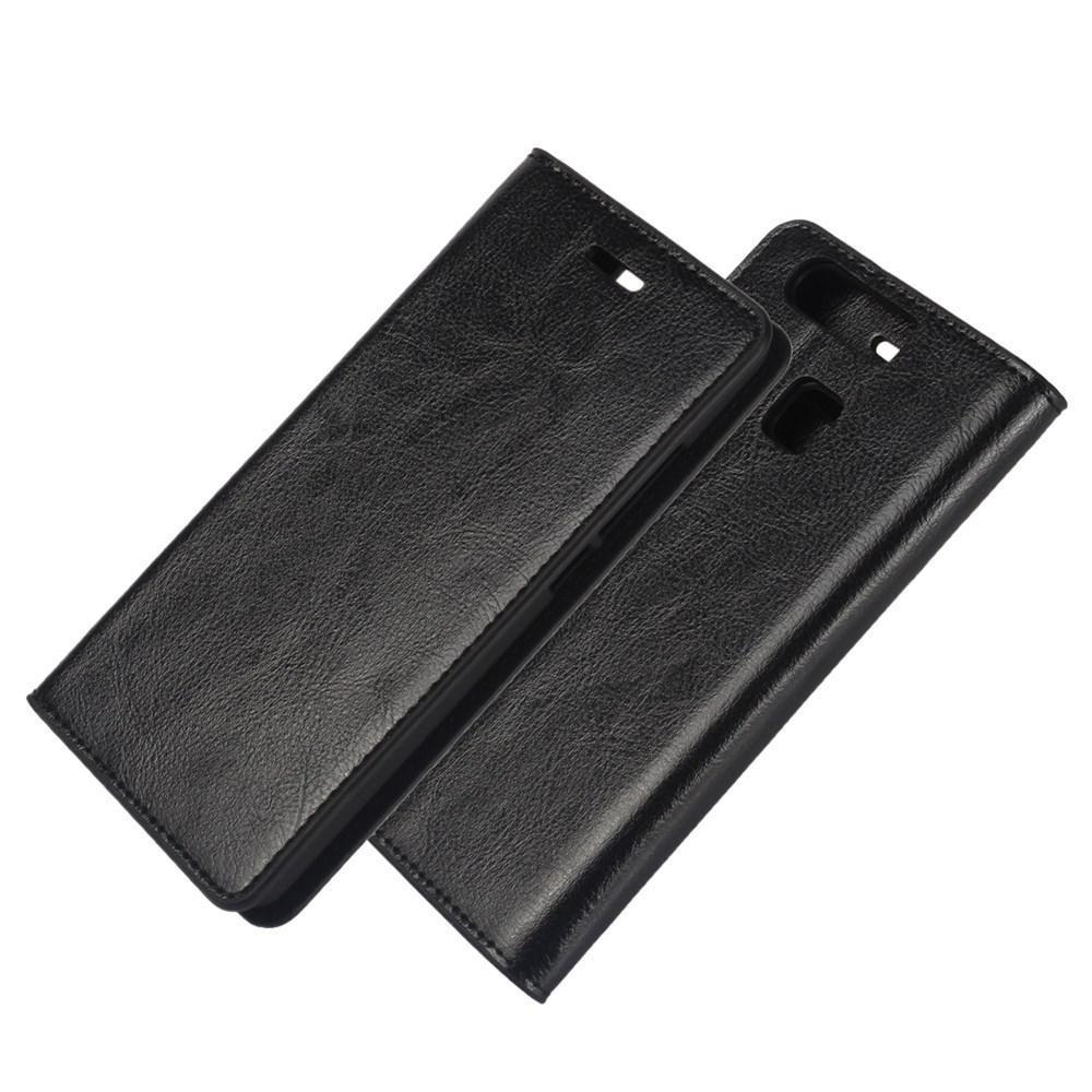 Mobiletui Ekte Lær Huawei P9 svart